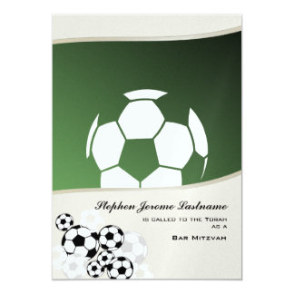 Barre d'invitation Mitzvah du football Carton D'invitation 12,7 Cm X 17,78 Cm