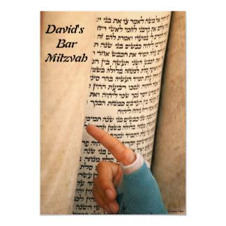 Barre Mitzvah/bat mitzvah Carton D'invitation 12,7 Cm X 17,78 Cm