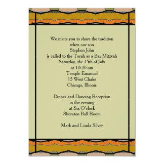 Barre Mitzvah Carton D'invitation 11,43 Cm X 15,87 Cm