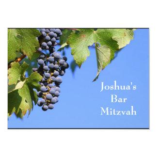 Barre Mitzvah/invitation de bat mitzvah Carton D'invitation 12,7 Cm X 17,78 Cm