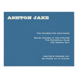 Barre Mitzvah RSVP d'Ashton Carton D'invitation 10,79 Cm X 13,97 Cm