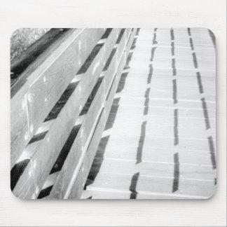 Barrière en bois - négatif tapis de souris