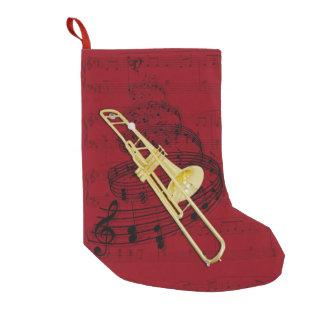 Bas de musique de trombone (valve) petite chaussette de noël