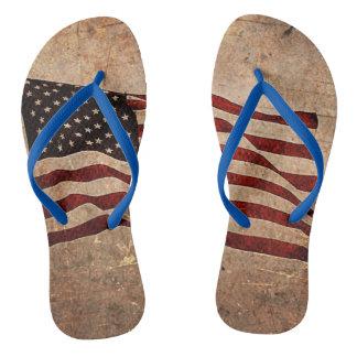 Bascules électroniques de drapeau américain de tongs