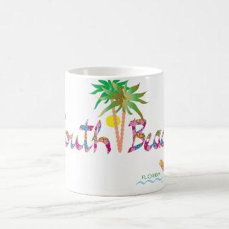 Bascules électroniques du sud de Miami de plage II Mug Blanc