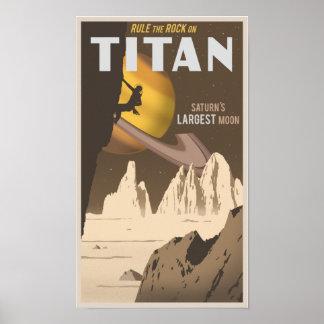 Basculez l'escalade sur le titan, une lune de Satu