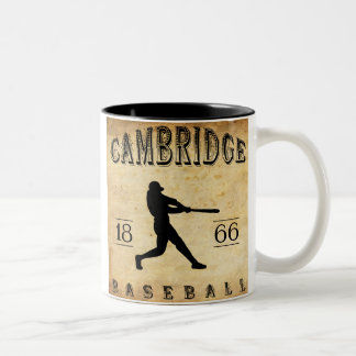 Base-ball 1866 de Cambridge le Massachusetts Tasse 2 Couleurs