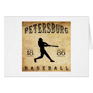 Base-ball 1886 de Pétersbourg la Virginie Carte