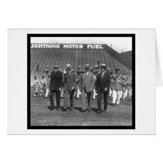 Base-ball 1925 de défilé de Kenesaw Landis Carte De Vœux