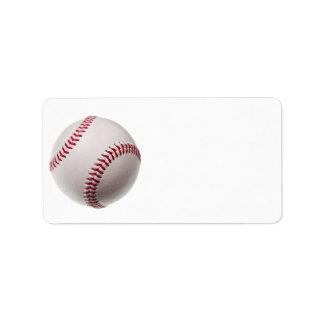 Base-ball - modèle d'arrière - plan de base-ball étiquettes d'adresse