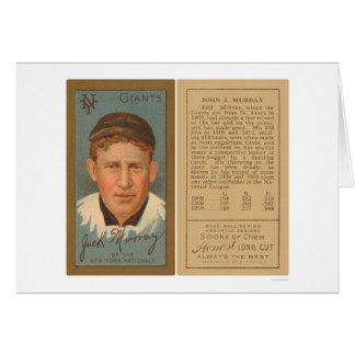 Base-ball rouge 1911 de Murray Giants Carte