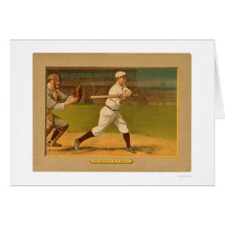 Base-ball rouge 1911 de Murray Giants Carte De Vœux
