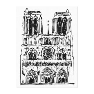 basiliek Notre Dame Canvas Afdruk