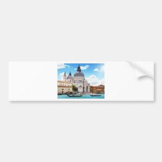 Basilique de Santa Maria à Venise, Italie Autocollant De Voiture
