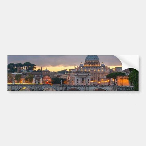 Basilique Rome Italie de St Peter de pont de Sant' Autocollants Pour Voiture