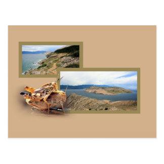 Baska, island Krk, Croatie, carte de lettre