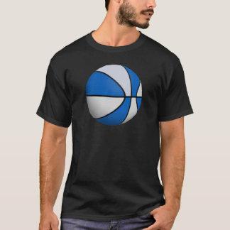 Basket-ball bleu et blanc : t-shirt