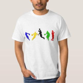 Basket-ball de cercles   de joueurs de basket t-shirt