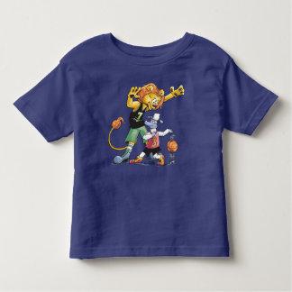 Basket-ball de lion et de moutons t-shirt pour les tous petits