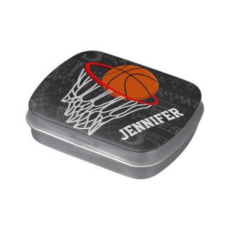 Basket-ball personnalisé et cercle de tableau boite à bonbons