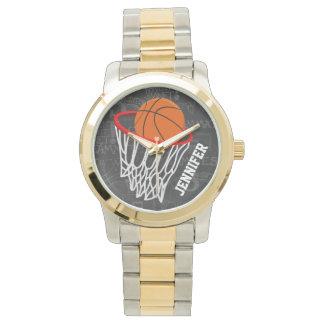 Basket-ball personnalisé et cercle de tableau montres