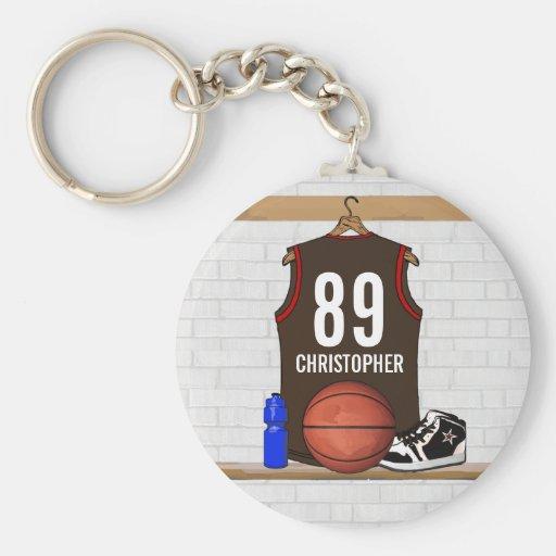 Basket-ball personnalisé Jersey (BRO) Porte-clé