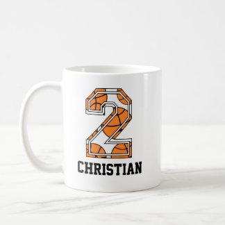 Basket-ball personnalisé numéro 2 mug