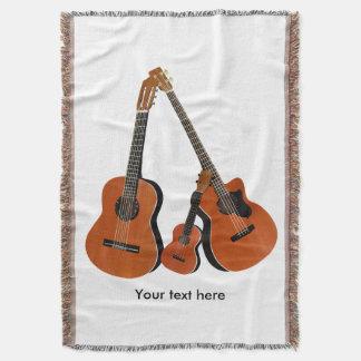 Basse acoustique et ukulélé de guitare classique couvre pied de lit
