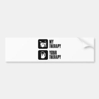 Bat du tambour de ma thérapie autocollant de voiture