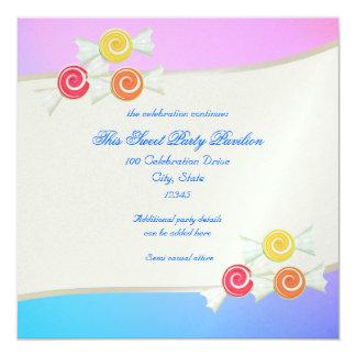 Bat mitzvah bleu de sucrerie de framboise carton d'invitation  13,33 cm