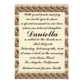 Bat mitzvah crème/faire-part de mariage de tulipes carton d'invitation  12,7 cm x 17,78 cm