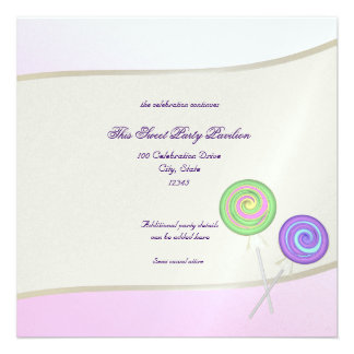Bat mitzvah de bonbon à sucrerie cartons d'invitation personnalisés