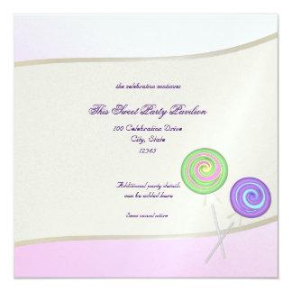 Bat mitzvah de bonbon à sucrerie carton d'invitation  13,33 cm