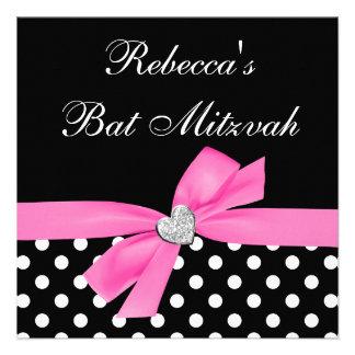Bat mitzvah de coeur d arc de noir de rose de poin
