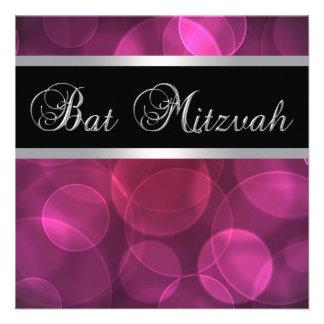 Bat mitzvah de roses indien faire-part personnalisés