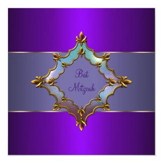 Bat mitzvah pourpre carton d'invitation  13,33 cm