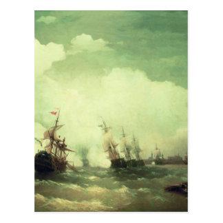 Bataille navale chez Revel par Ivan Aivazovsky Carte Postale