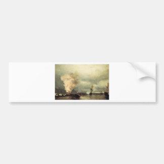 Bataille navale près de Vyborg par Ivan Aivazovsky Autocollant De Voiture