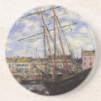 Bateau à marée basse chez Fecamp par Claude Monet Dessous De Verres