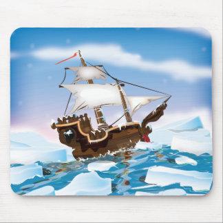 Bateau d'activité pour briser la glace tapis de souris