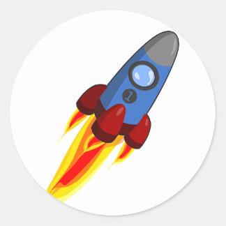 Bateau de Rocket - autocollant du numéro 1