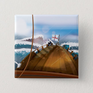 Bateau de tempête de l'Océan Atlantique Badge Carré 5 Cm