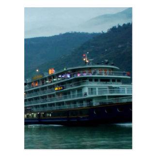 Bateau de touristes chinois en rivière Yangtz Carte Postale