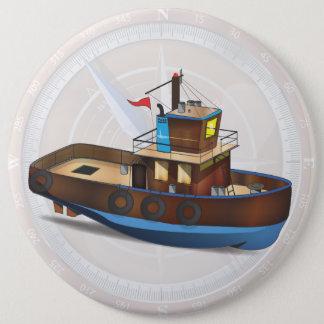 Bateau de traction subite badge rond 15,2 cm