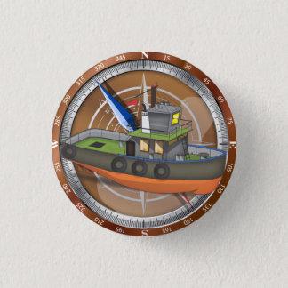 Bateau de traction subite badge rond 2,50 cm