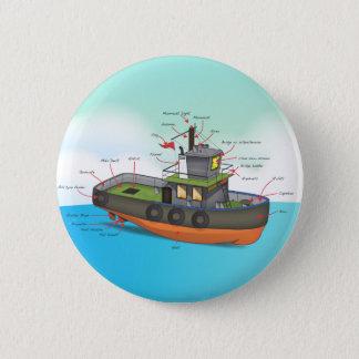 Bateau de traction subite badge rond 5 cm