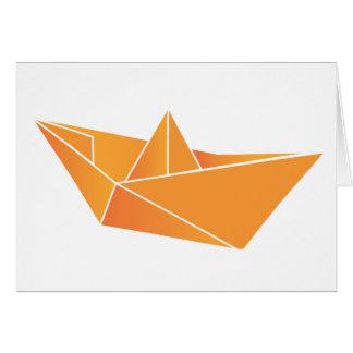 Bateau d'origami carte