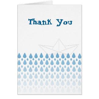 """Bateau nautique - carte de """"Merci"""" d'appréciation"""