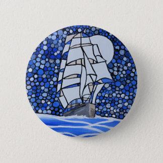 bateau vaillant badge rond 5 cm