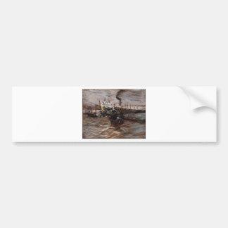 Bateaux à Venise par Giovanni Boldini Autocollant De Voiture